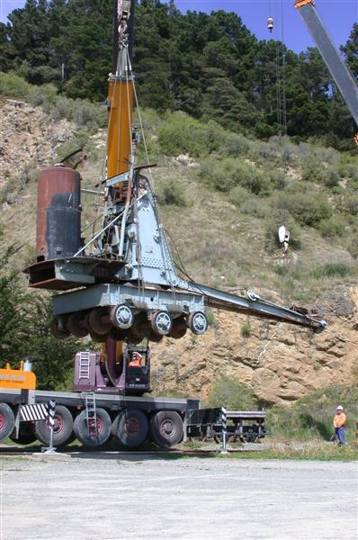A vintage crane has found a new home.