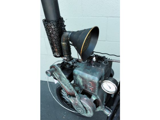 Motorised Penny Farthing detail