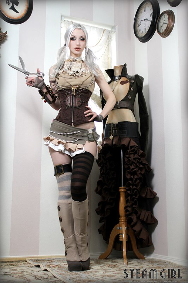 Steampunk Seamstress Via YourDailyMedia