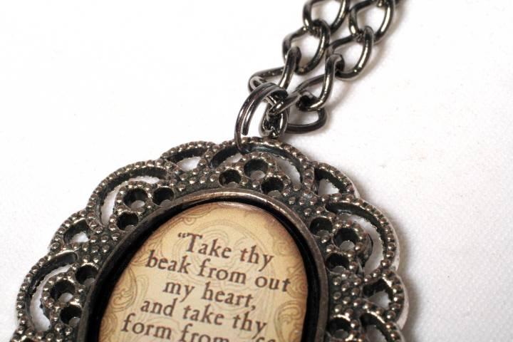Always Alternative Raven Necklace detail