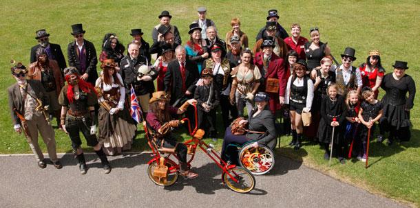 Steampunk Doncaster group shot
