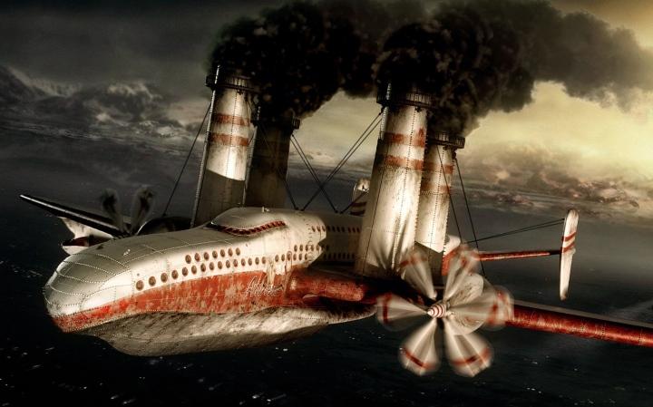 Steampunk plane