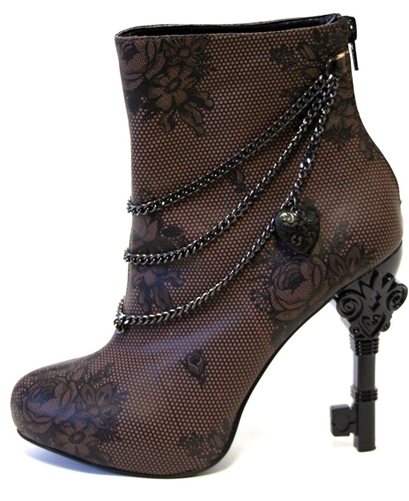Steampunk boot with key heel