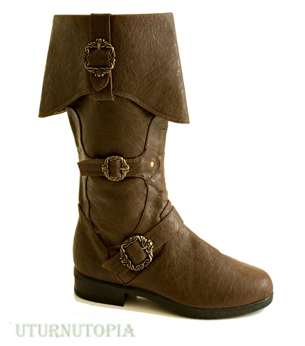 Cuffed Pirate design knee boot