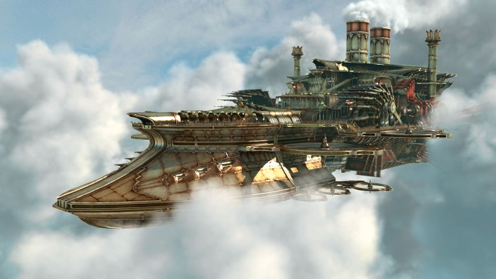 Steampunk flying Cruiser