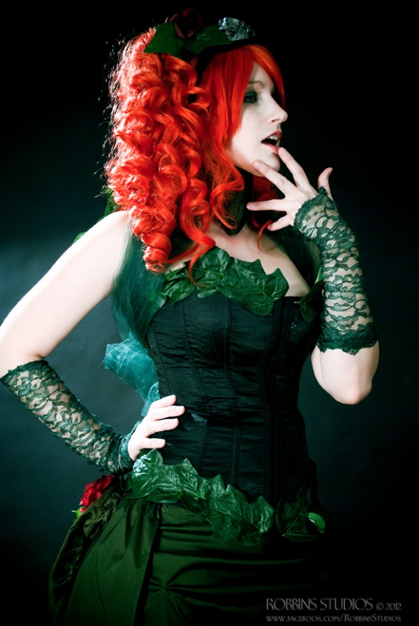 Poison Ivy in steampunk gear