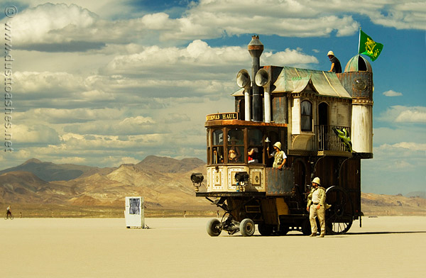 NeverWas Haul steampunk caravan