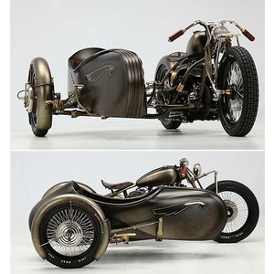 Steampunk bike and sidecar