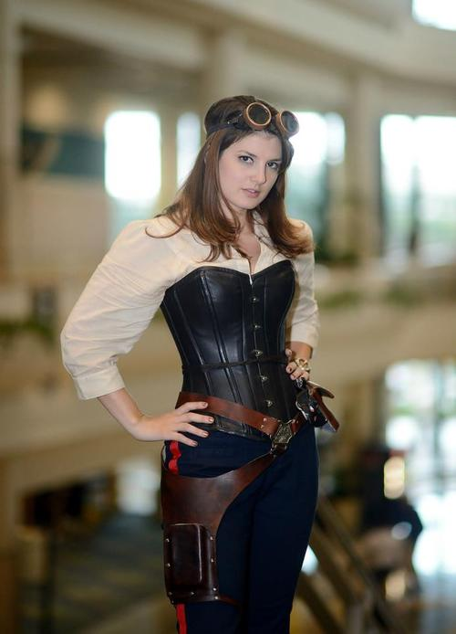 steampunk star wars cosplayers female Han