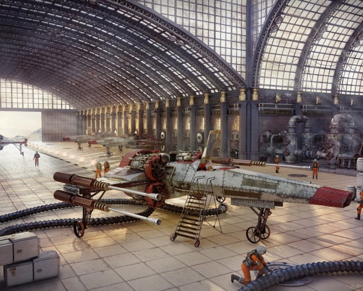 steampunk rebel hangar