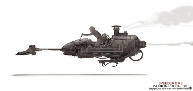 Victorian Star Wars speederbike