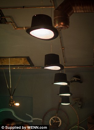Top Hats are used at lamp shades