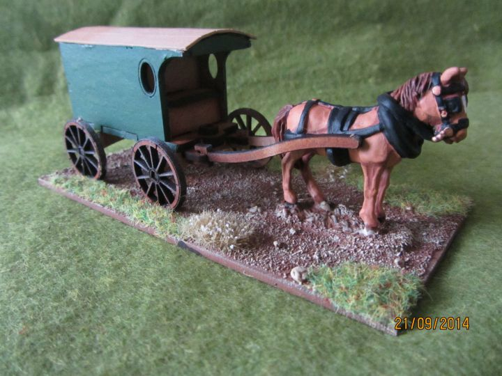 What says steampunk more than an undecorated Playmobil Amish cart?