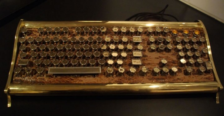 Marquis keyboard in the steampunk range
