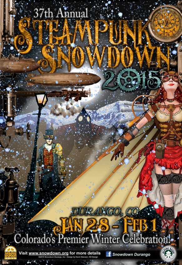 Steampunk Snowdown 2015 poster art