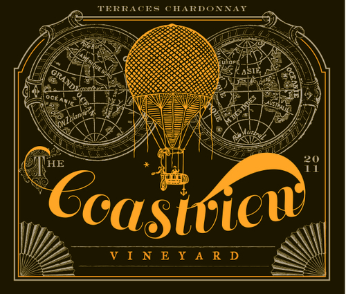 Coastview Vineyard steampunk inspired label
