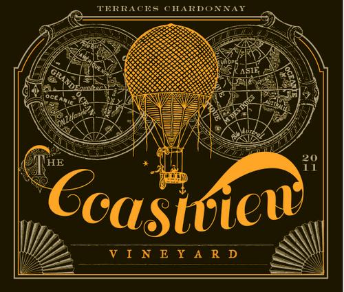 Coastview Vineyard steampunk inspired label