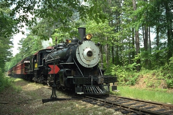 Texas State Railroad steam train