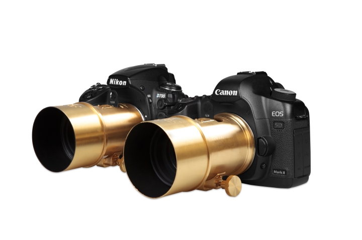 Petzval lenses on a Nikon and Canon DSLR